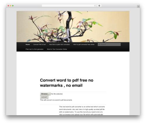 Twenty Eleven premium WordPress theme - freewordtopdfonline.com