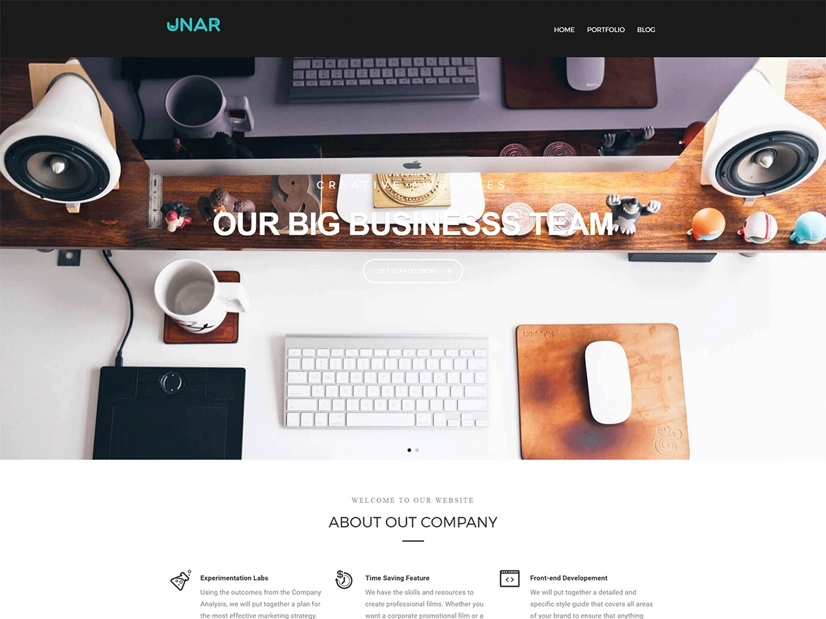 Unar template WordPress free