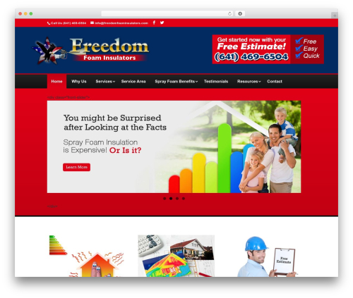 WordPress template Divi - freedomfoaminsulators.com