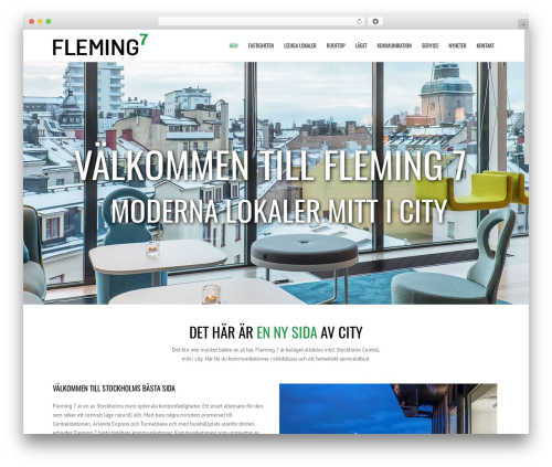 WordPress template Subway - fleming7.se