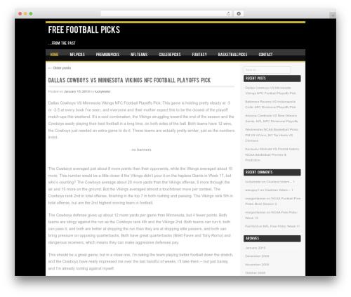 WordPress website template SportyPro - free-football-picks.luckylester.com