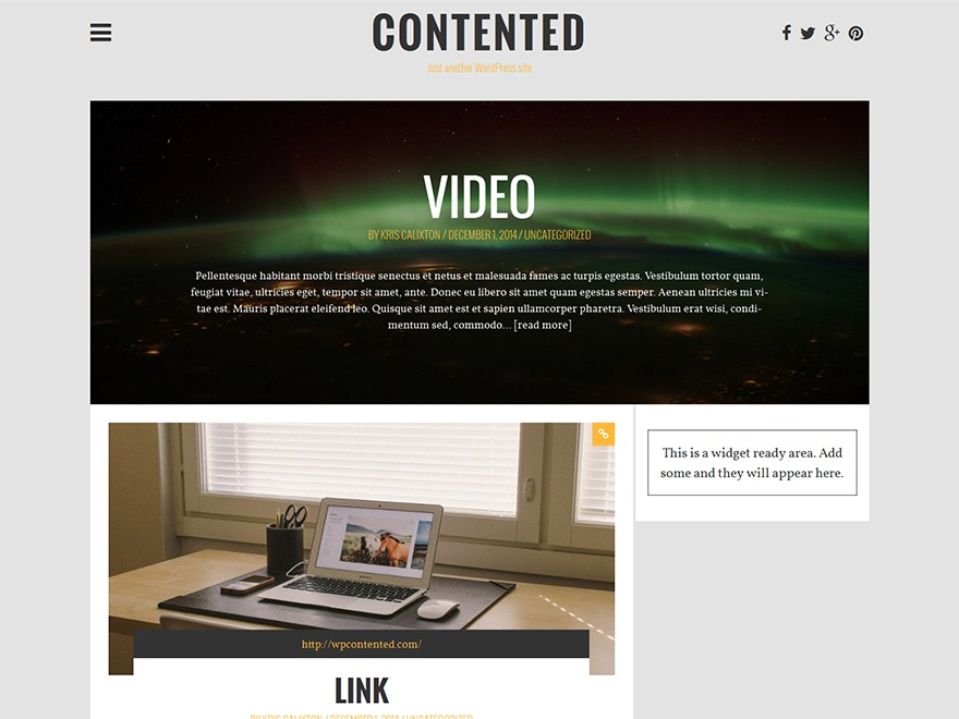 Wp Contented WordPress blog template