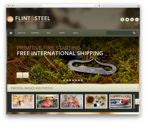 WP theme cherry - flint-and-steel.com