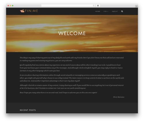 WPVoyager premium WordPress theme - fin.me
