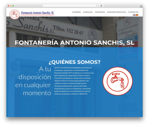 Zerif PRO WordPress theme - fontaneriasanchis.com