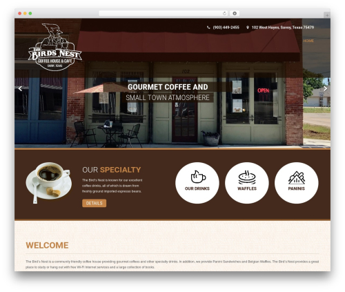 Coffee Pro WordPress theme - birdsnestcoffee.com