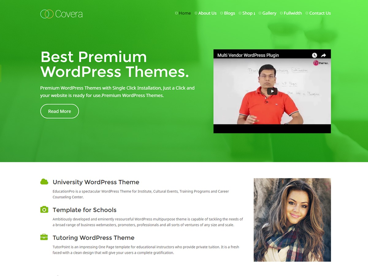 Covera Pro V2 WordPress page template