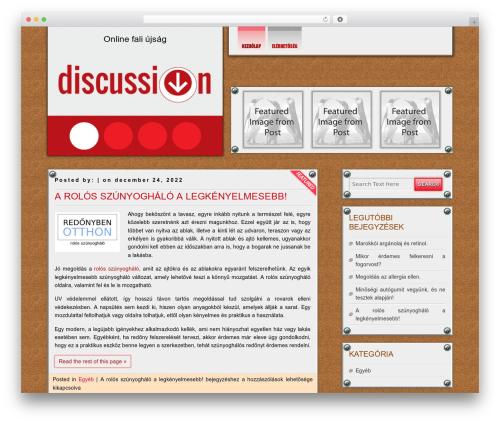 DISCUSSION WordPress theme - bpix.hu