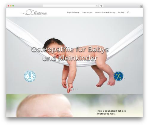 Divi theme WordPress - birgit-gillemot.de