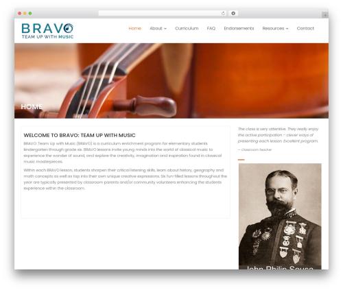 Education Base template WordPress free - bravomusicappreciation.com