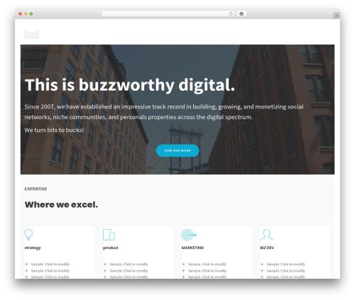 Folie WordPress template - buzzworthydigital.com