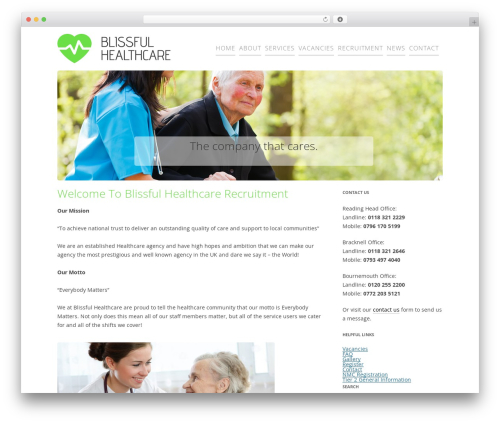 healthcare-recruitment WP template - blissfulhealthcare.co.uk