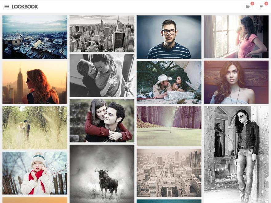 Lookbook WordPress photo theme