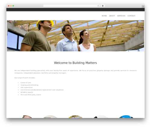 River WordPress theme - buildingmatters.ca