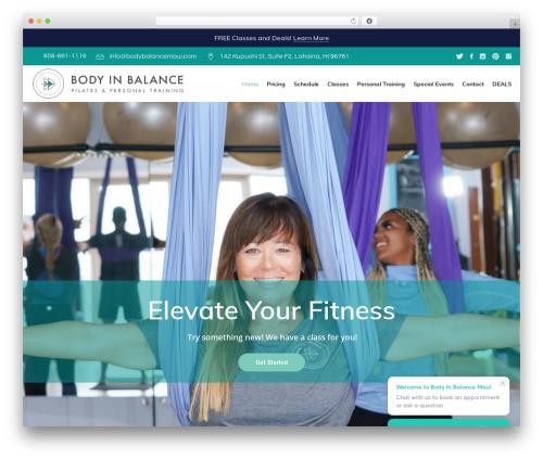 Wellspring best WordPress theme - bodybalancemaui.com