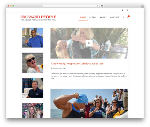Zass WordPress theme - browardpeople.com