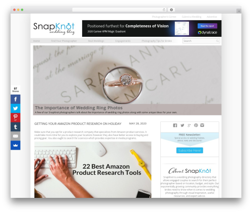 Elemin WordPress photo theme - blog.snapknot.com