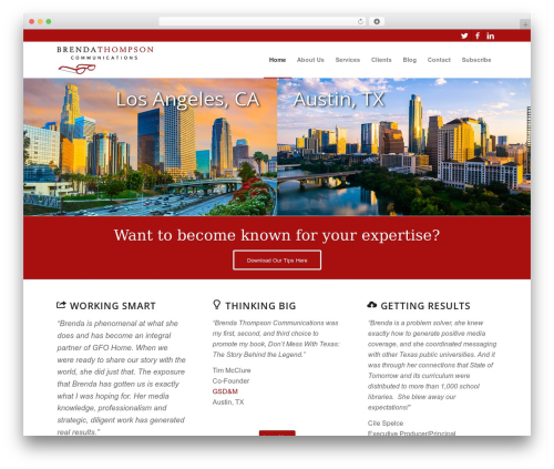 Enfold WordPress website template - brendathompson.com