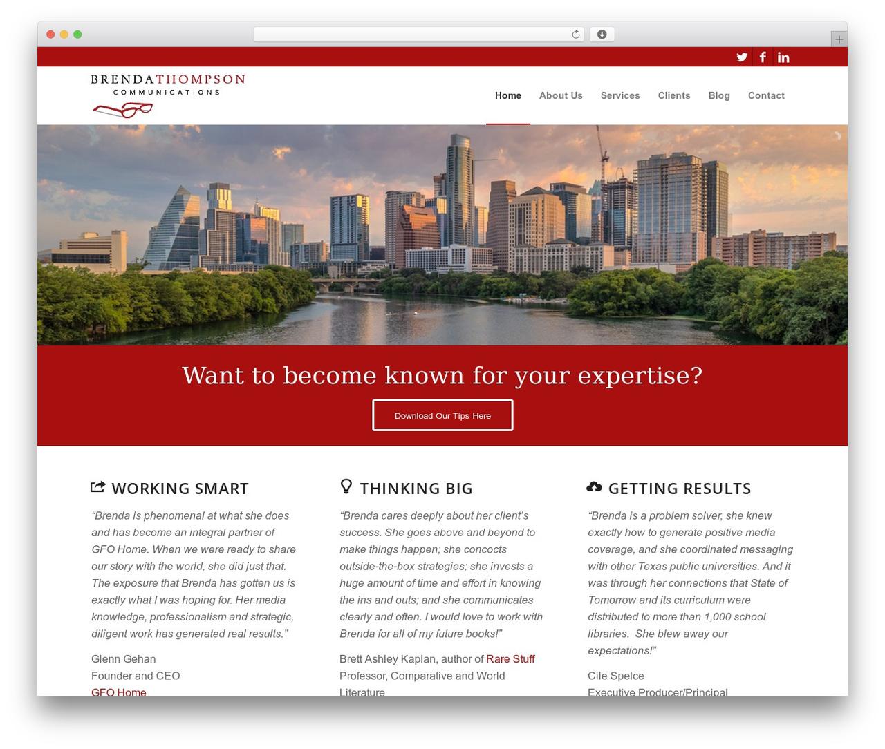 Enfold WordPress website template - brendathompson.com