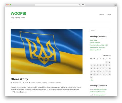 Puro Premium WordPress blog template - blog.swoop.name