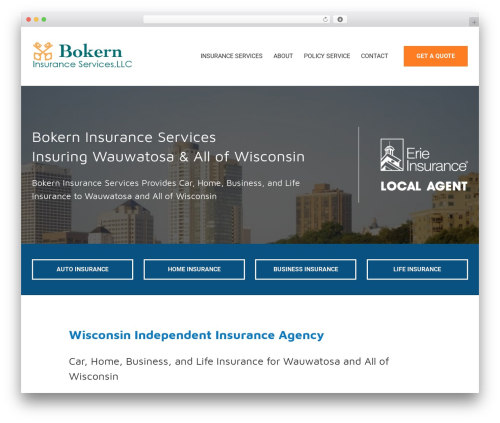 Template WordPress BrightFire Stellar - bokerninsurance.com