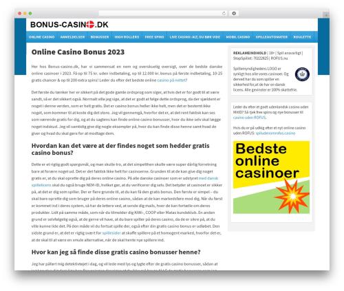 Template WordPress Spread II Theme - bonus-casino.dk