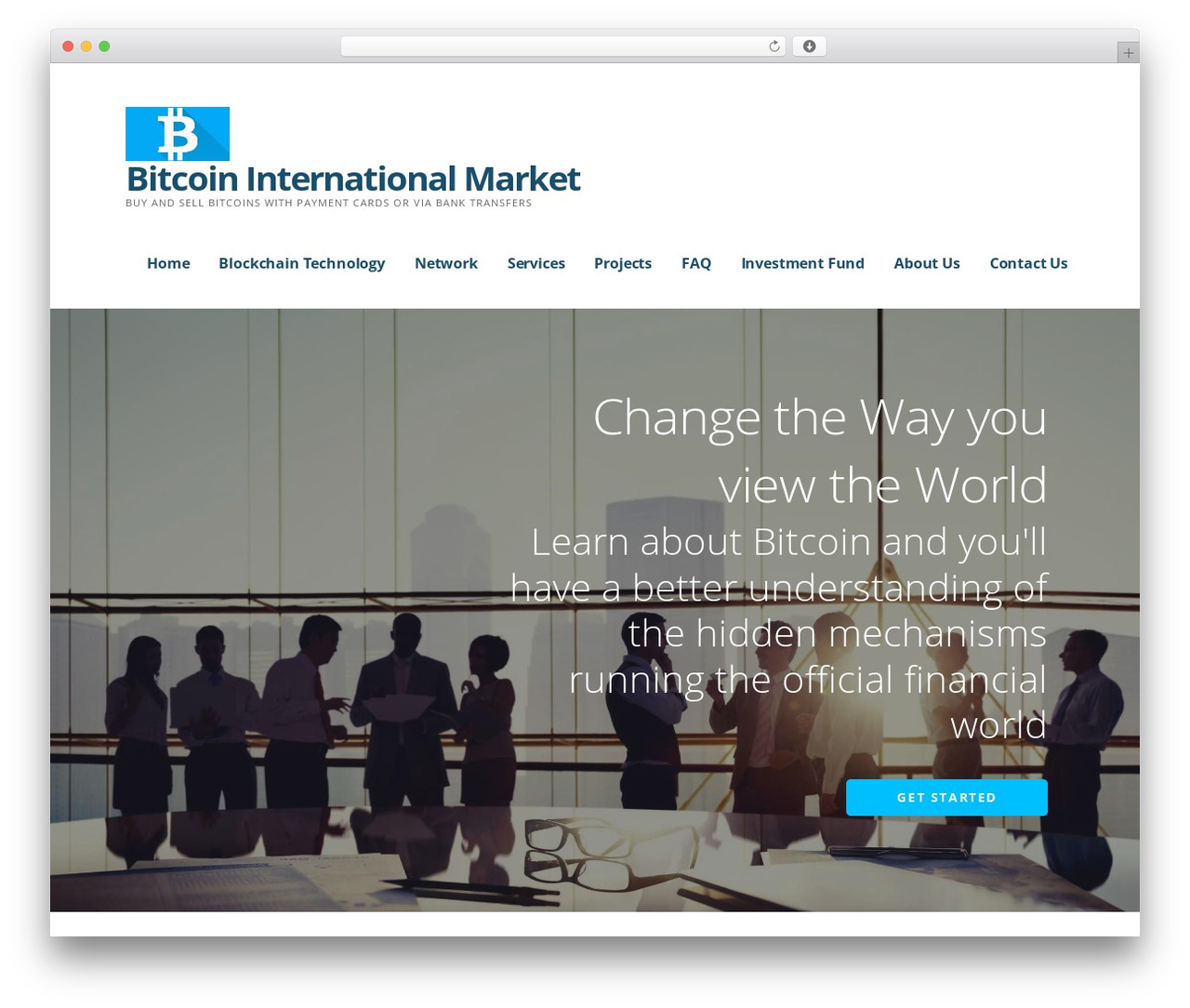 Theme WordPress Ascension - bitcoininternationalmarket.com