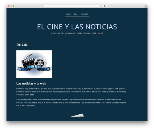 WordPress template Deep Sea - bridesheadrevisited-themovie.com