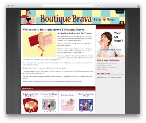 WP template Affiliate Internet Marketing theme - boutiquebrava.com