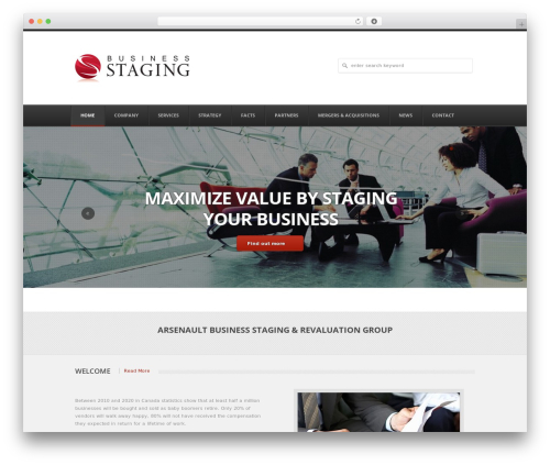 APLEX WordPress page template - business-staging.com