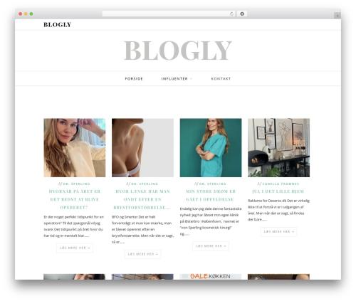 Base network theme WordPress blog theme - blogly.dk