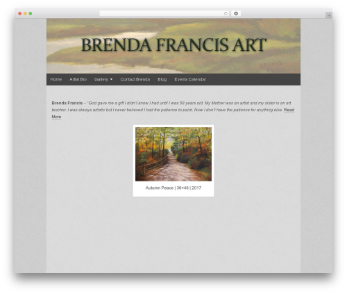 Brenda Francis Art WordPress page template - brendafrancisart.com