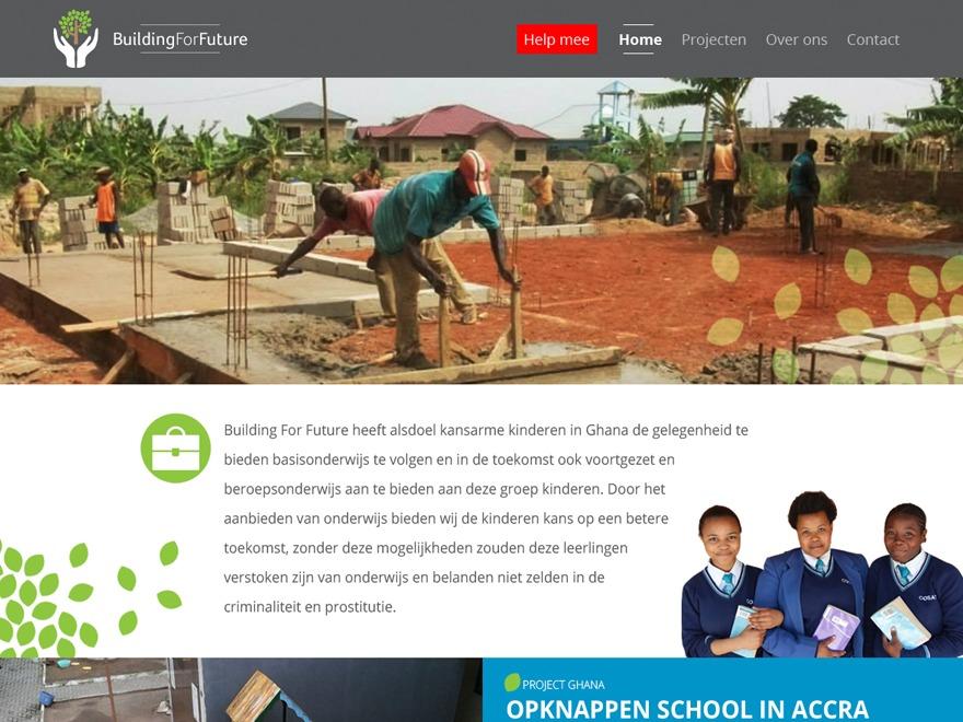 Buildingforfuture WordPress theme design