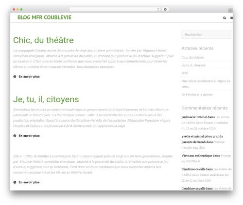 Cinematix WordPress blog template - blog.mfrcoublevie.com