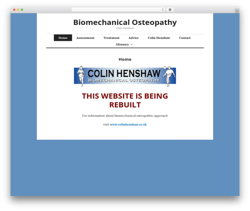Free WordPress Child Theme Generator plugin - biomechanicalosteopathy.com