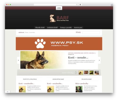 eNews WordPress news theme - barf.sk