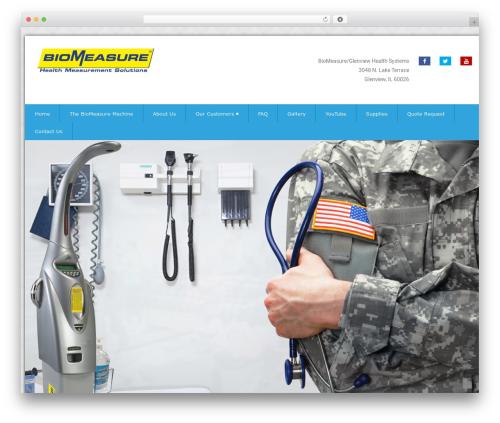 Health-Center-Pro WordPress theme - biomeasure.net