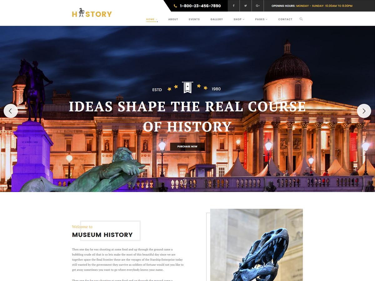 History theme WordPress
