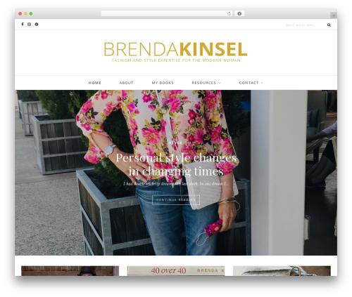 Oleander WordPress website template - brendakinsel.com