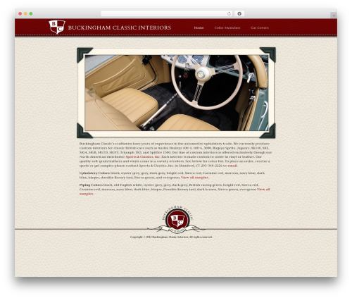 Starkers motors WordPress theme - buckinghamclassic.com