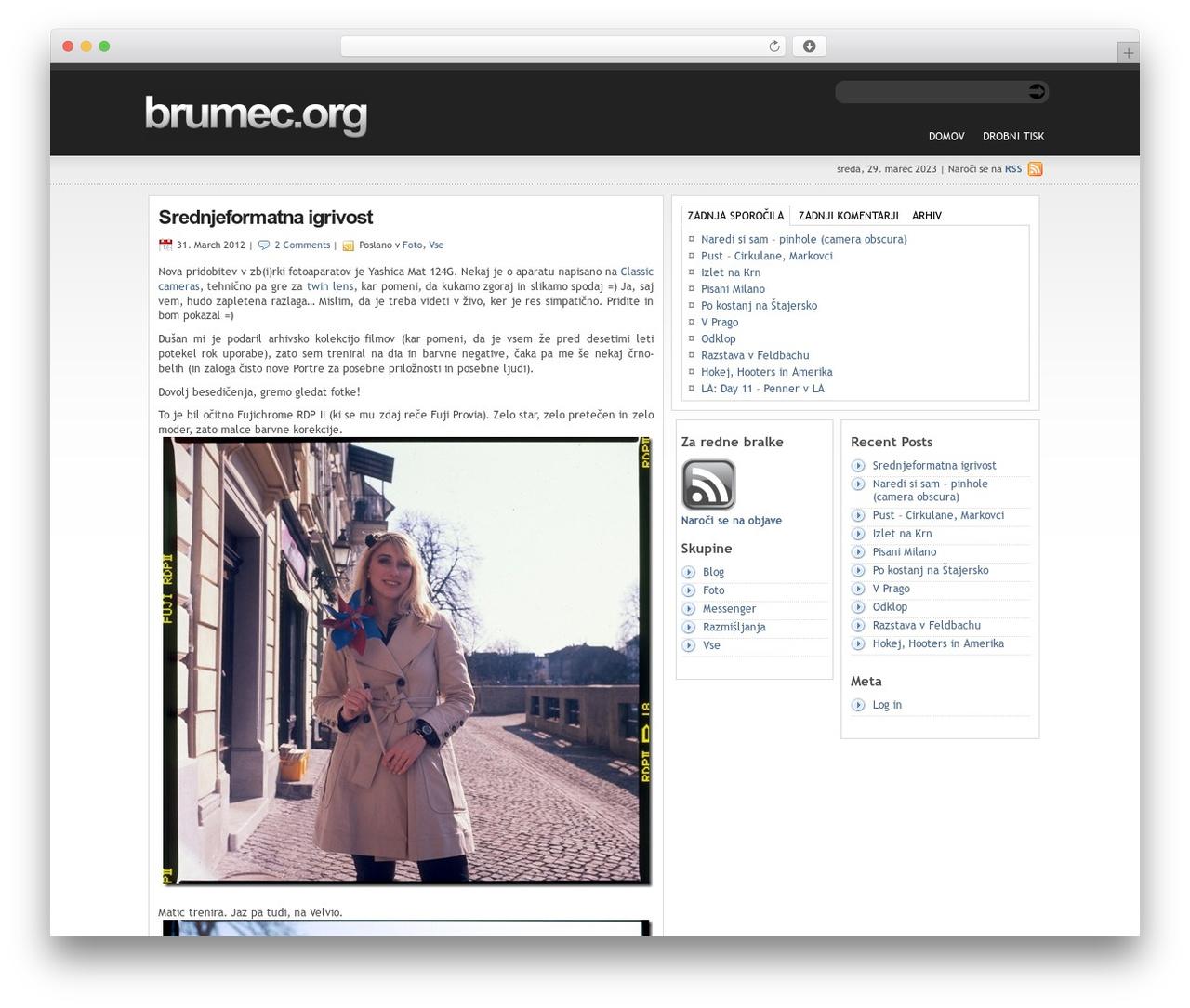 statement WordPress theme - brumec.org