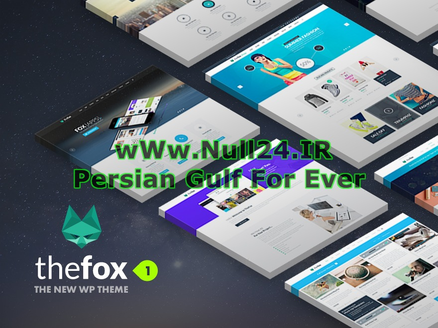 TheFox (Released By Null24.ir) company WordPress theme