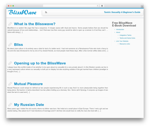 Theme WordPress Customizr - blisswave.com