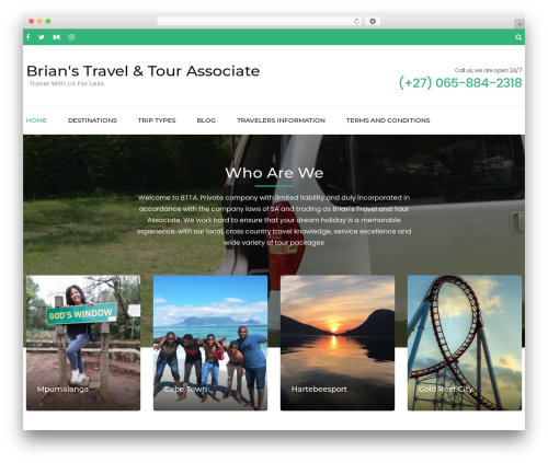 Free WordPress Travel Agency Companion plugin - btta.co.za