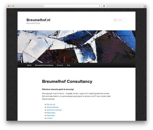 Twenty Eleven WordPress theme - breumelhof.nl