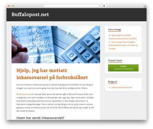 zeePersonal best WordPress template - buffalopost.net