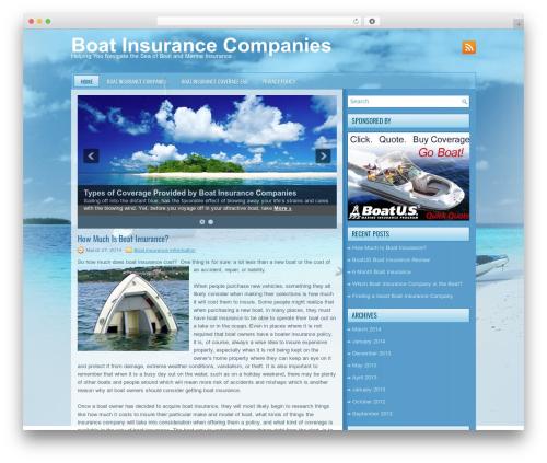 boating best WordPress template - boatinsurancecompanies.net