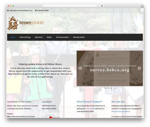 Creatink WordPress page template - brownstreetbaptist.org
