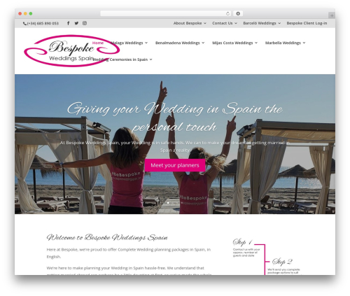 Divi WordPress theme - bespokeweddingsspain.com