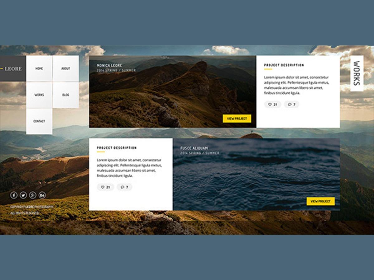 Leore photography WordPress theme
